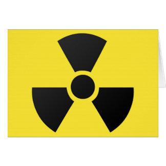 Radioactive radiation nuclear atomic symbol greeting card