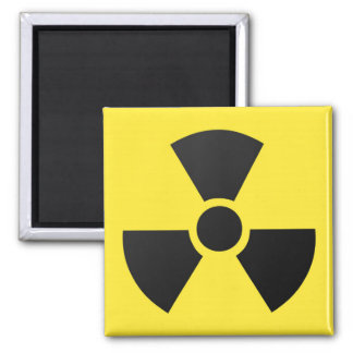 Radioactive radiation nuclear atomic symbol square magnet