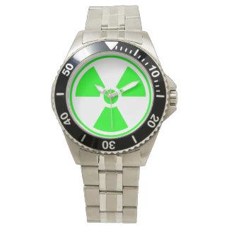 Radioactive Radiation Symbol green and black Watch