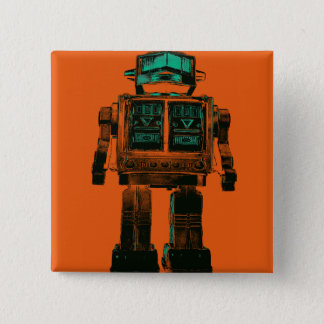 Radioactive Robot Rebellion 15 Cm Square Badge
