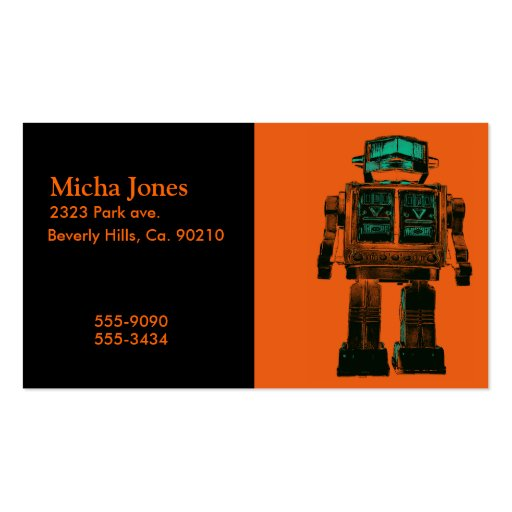 Radioactive Robot Rebellion Business Card Templates