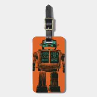 Radioactive Robot Rebellion Luggage Tag