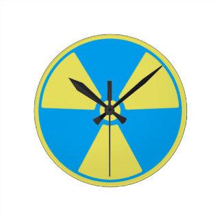Radioactive Round Clock