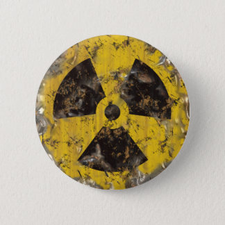 Radioactive Rusted 6 Cm Round Badge