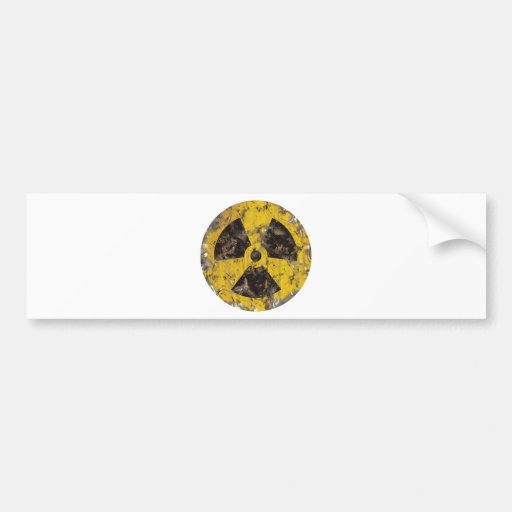 Radioactive Rusted Bumper Stickers