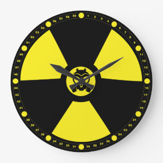 Radioactive Symbol Large Clock