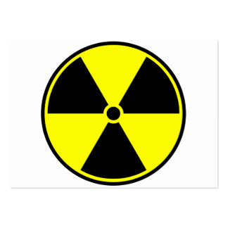 Radioactive Symbol Pack Of Chubby Business Cards