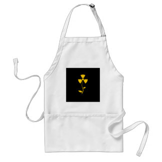 Radioactive to flower Yellow design Standard Apron