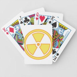 Radioactive Warning Bicycle Playing Cards