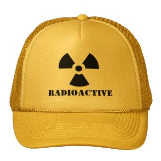 RADIOACTIVE Warning Label Halloween Dress Up Hat