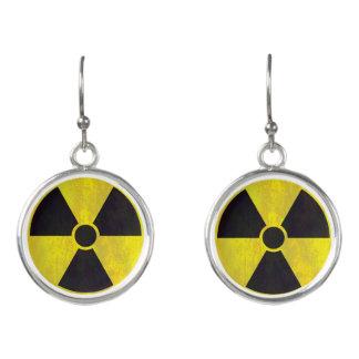 Radioactive Warning Sign | Cool Grunge Earrings