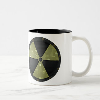 Radioactive Warning Symbol Two-Tone Coffee Mug