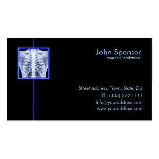 Radiologist - X-ray Treatment Business Card