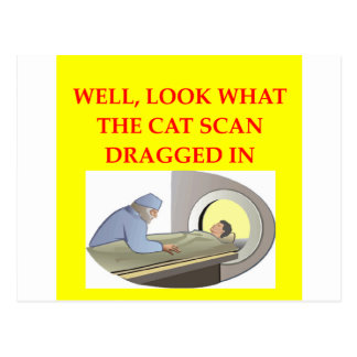 radiology joke postcard