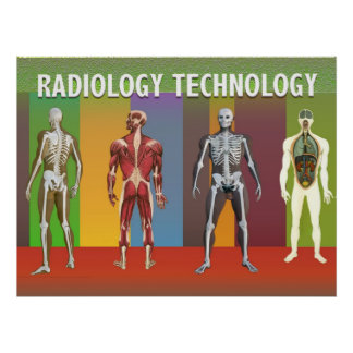 Radiology Technology Applied Science Cards Poster