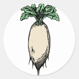 Radish Classic Round Sticker
