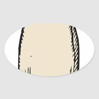 Radish Oval Sticker