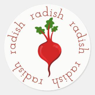 Radish Rounds Classic Round Sticker