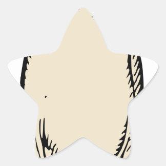 Radish Star Sticker