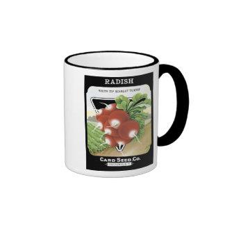 Radish White Tip Card Seed Co Coffee Mugs