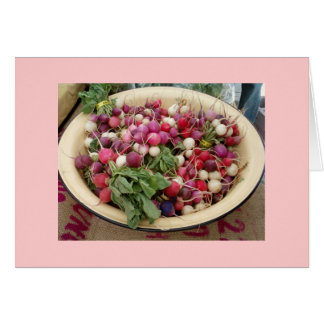 Radishes at the Farmer's Market Card