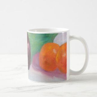 Radishes Aubergine and Oranges Coffee Mug
