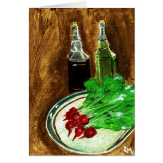 Radishes & Condiments Greeting Card