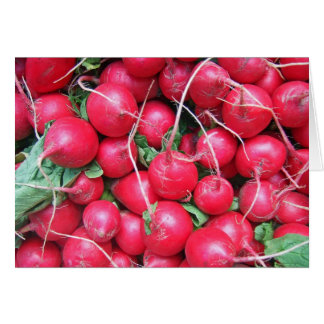 Radishes Note Card
