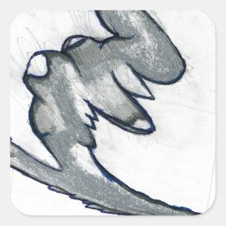 Radix Form Square Sticker