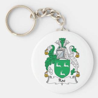 Rae Family Crest Key Ring