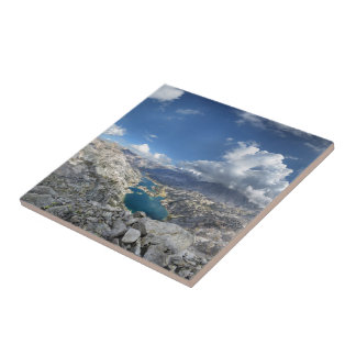 Rae Lakes from Painted Lady - John Muir Trail Ceramic Tile
