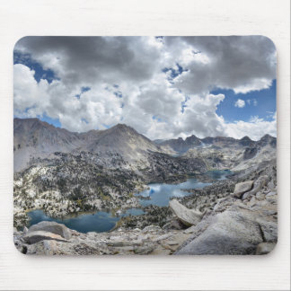 Rae Lakes Panorama from Fin Dome - John Muir Trail Mouse Pad