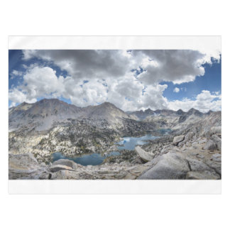 Rae Lakes Panorama from Fin Dome - John Muir Trail Tablecloth