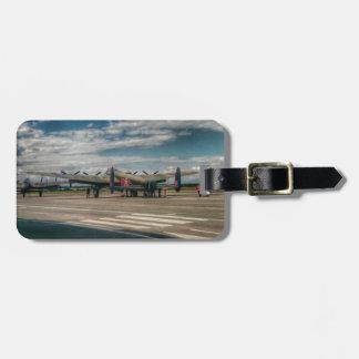RAF Lancaster Bomber Luggage Tag