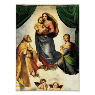 Rafael's Madonna Sistine Chapel c. 1513-14 Poster