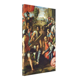 Raffael - Christ Carrying the Cross Canvas Prints