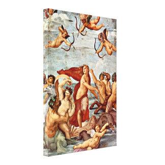 Raffaello Sanzio da Urbino - Triumph of Galatea Stretched Canvas Print