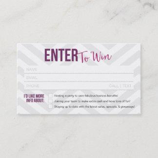 Raffle Ticket / Door Prize Business Cards