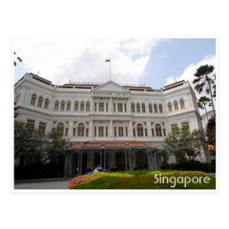 raffles singapore postcard