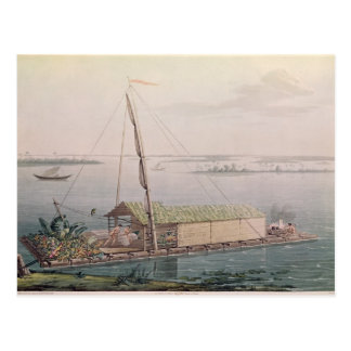 Raft on the Guayaquil River Postcard