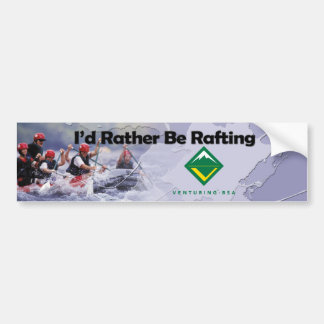 Rafting Bumper Sticker