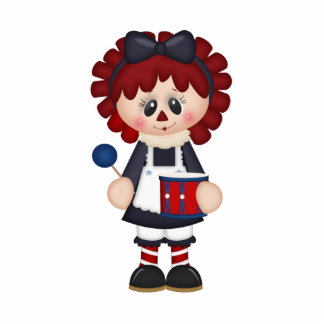 Rag Doll Holding a Drum Photo Cut Out