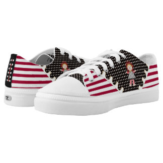 Rag Doll Polka Dots and Stripes - Personalized Printed Shoes