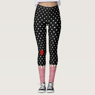 Rag Doll Polka Dots, Stripes and Hearts Leggings