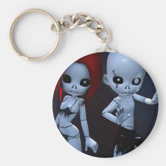 Rag Dolls Couple Keychains