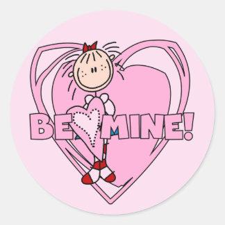 Ragdoll Be Mine Valentine Classic Round Sticker