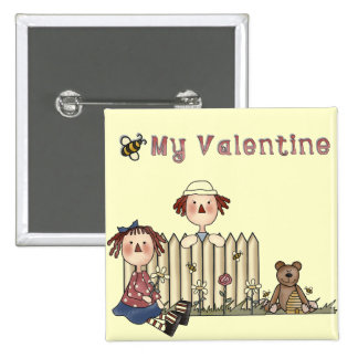 Ragdoll Bee My Valentine tshirts and Gifts 15 Cm Square Badge