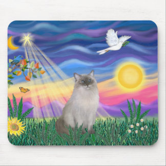 Ragdoll Cat (Blue Point) - Twilight Mouse Pad