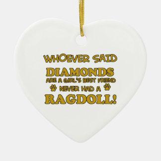Ragdoll cat breed designs ceramic ornament