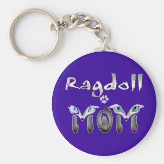Ragdoll Cat Mom Gifts Key Chain